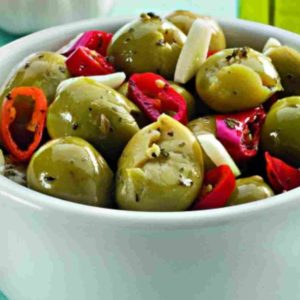 Olive Verdi schiacciate alla siciliana