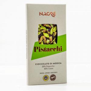 Cioccolato di Modica IGP con Pistacchi di Bronte DOP