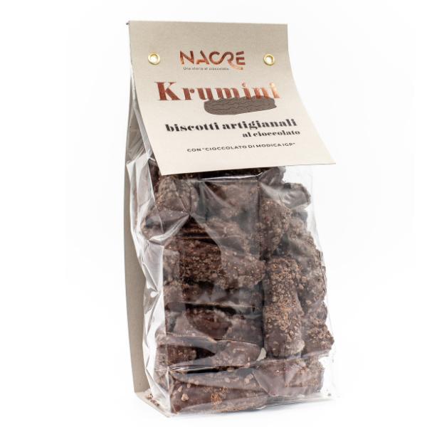 Confezione Krumini ricoperti di cioccolato di Modica IGP