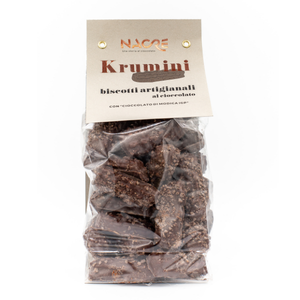 Biscotti Krumini ricoperti di ciocolato di Modica IGP