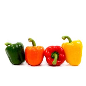 Peperoni quadrati colorati