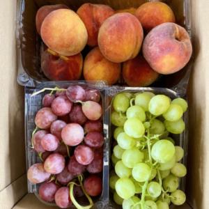 Box Frutta uva pesche